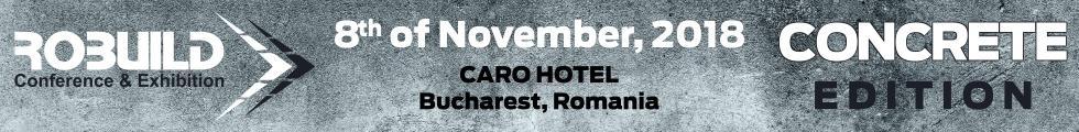 ROBUILD Conference & Exhibition - CONCRETE EDITION  8th November - Caro Club Bucharest