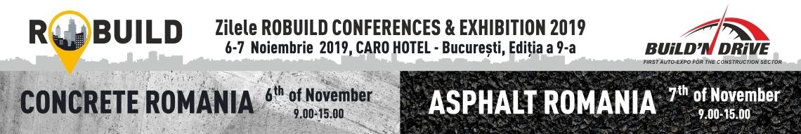 Zilele RoBuild Conferences & Exhibitions - 6-7 Noiembrie 2019