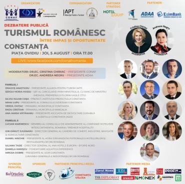 """PROIECTUL NAȚIONAL """"TURISMUL ROMÂNESC: ÎNTRE IMPAS ȘI OPORTUNITATE"""" debutează pe 5 august la Constanța"""