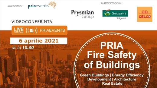 Conferința Pria Fire Safety of Buildings ajunge la ediția a 5-a in 6 aprilie 2021, online de la 10:30