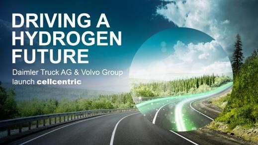 Daimler Truck AG și Volvo Group, pe deplin angajate în dezvoltarea sistemelor de propulsie cu hidrogen, lansează noul joint venture cellcentric