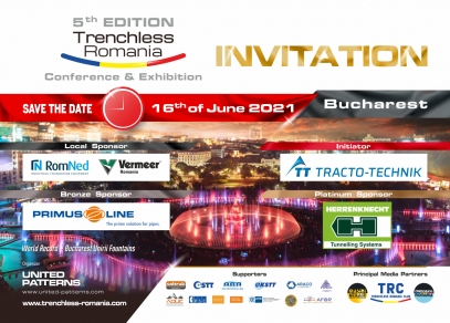 Trenchless Romania Conference & Exhibition, 5th Edition - 16th of June 2021