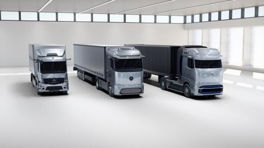 Cele mai inovatoare camioane pentru viitorul electric: Mercedes-Benz eActros și Mercedes-Benz GenH2 Truck câștigă Truck Innovation Award 2021