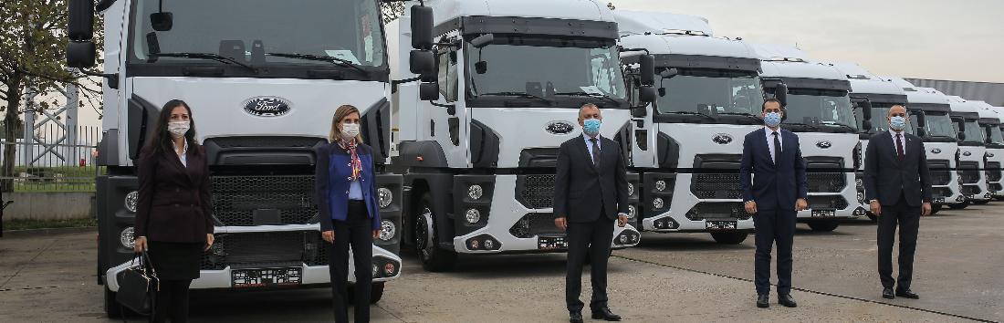 Cefin Trucks, livrează prima parte a unei flote de 100 unități Ford Trucks 1842T,  către Tempo Invest