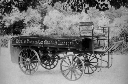 The first truck in the world was built by Gottlieb Daimler in 1896 •